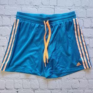 Adidas Mesh Blue Basketball Running Shorts Sz Med